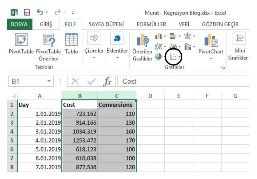 Excel Scatter Chart